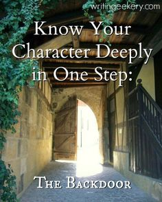IMPORTANT AND USEFUL!!! This is some of the best character-development advice that I have ever read.