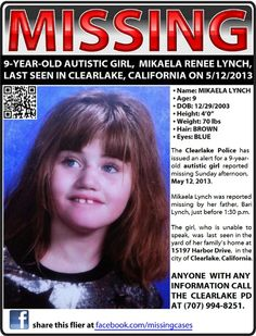 PLEASE RE-PIN this, get eyes out for this little Girl!!!