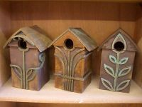 Ceramic Birdhouses by Abby Dreyer