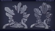 Portal Environment - Cry Engine 3 by Fanny Vergne on ArtStation. Zbrush Environment, Environment Concept Art, Environment Design, Prop Design, Game Design, Portal Art, Game Props, 3d Fantasy, Modelos 3d
