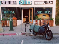 Surf motorcycle at Mollusk Surf Shop
