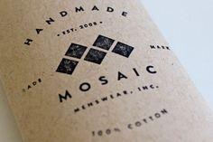Mosaic Menswear Branding    Tavish Calico     http://tavcalico.com