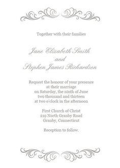 free wedding invitation templates   wedding invitations black, wedding cards