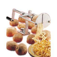 Nemco Fine-Cut-Garnish Potato Cutter by Nemco. $260.99. 12. Nemco Spiral Fry Potato Cutter, Fine-Cut-Garnish Model Spiral Fry lets you turn potatoes into plates full of uniquely appetizing, fresh, thin spiral fries that serve up big profits for you Fine Cut Garnish Cutter model makes attractive, finely cut vegetable garnishes quickly and easily Simply load a potato and turn the easy-action drive screw. No peeling required. Easily releases and retracts for fast reloa...