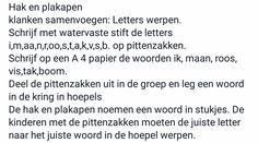 Letters werpen