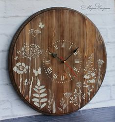 easy healthy breakfast ideas on the good day song Large Rustic Wall Clock, Big Wall Clocks, Clock Art, Diy Clock, Wood Clocks, Diy Pared, Clocks Inspiration, Rustic Wood Crafts, Primitive Wood Signs