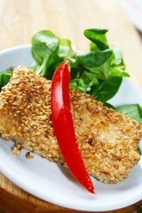 Tofu szezámos bundában - Makronauta Seitan, Grains, Rice, Food, Essen, Meals, Seeds, Yemek, Laughter