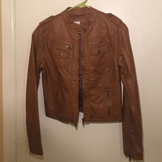 Women's faux leather jacket Women's faux leather jacket. worn once Xhilaration Jackets & Coats