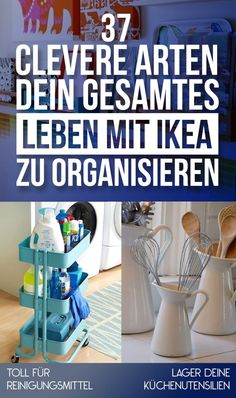 I'm obsessed with ikea and all things organizational. We're definitely spending like a whole day at ikea when we get our own place. 37 Clever Ways To Organize Your Entire Life With IKEA Organize Your Life, Organizing Your Home, Organising, Home Organisation, Organization Hacks, Organizing Ideas, Organization Station, Household Organization, Hacks Ikea
