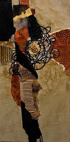 Hill Country,  022316 by Carol Nelson mixed media ~ 12 x 8 inches