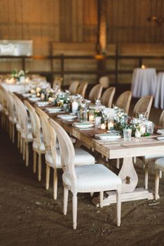 Rustic classic white and lush greenery wedding tables…