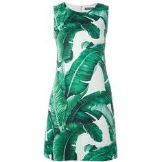 Dolce and Gabbana Palm Print Shift Dress