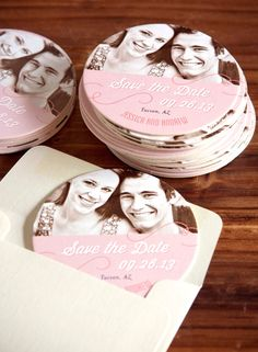 Wedding Coaster Save the Date! This is a Great Idea! Evermine.com