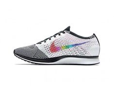 wholesale dealer 78516 986f7 Ultra-Rare White,Multi-Color-Black-Pink Blast Unisex Nike Flyknit Racer