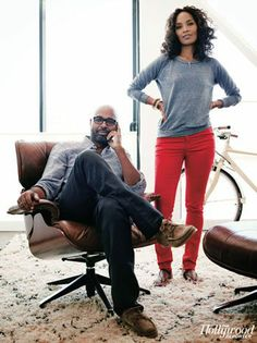 Salim & Mara Brock Akil..Beautiful couple! These two look comfortable in their own skin as well as with one another