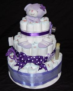 diaper cakes for girls | Crafting With Tammy: Diaper Cake