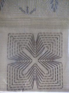 !!!!!!!!!!!!!!!!!! Needlepoint Stitches, Crochet Stitches, Needlework, Ribbon Embroidery, Embroidery Stitches, Embroidery Designs, Cross Stitch Borders, Cross Stitch Patterns, Huck Towels