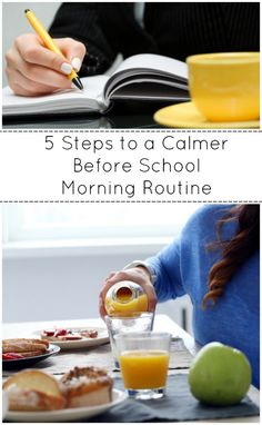 5 Steps to a Calmer Before School Morning Routine with printable morning routine checklist