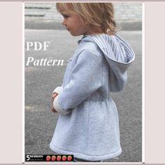Olga Hoodie Dress Sewing Pattern