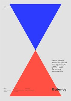 Balance – The Principles of Design poster serie by Gen Design Studio #poster #minimal