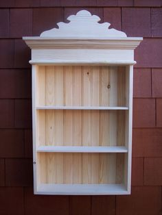 Items similar to Unfinished Cottage Style Wall Cabinet on Etsy Woodworking Ideas Table, Woodworking Organization, Woodworking Garage, Woodworking Joints, Woodworking Workshop, Woodworking Techniques, Woodworking Projects Diy, Woodworking Furniture, Fine Woodworking