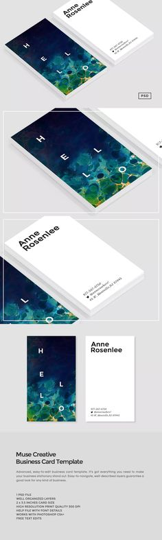 Muse Business Card Template PSD