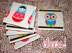 DIY Tutorial: Mod Podge Tile Coasters - Hostess with the Mostess®