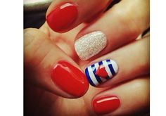 Red, white, and blue-- with some sparkle and stripes! by @xXMsStylesXx