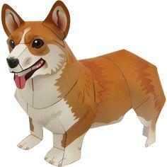 Welsh Corgi Pembroke,Animals,Paper Craft,Mammals ,Animals,dog,Paper Craft,Pet series,easy
