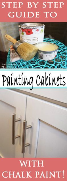 Looking for a weekend project? How about an easy update to your kitchen by painting your cabinets with chalk paint!! Check out this tutorial!
