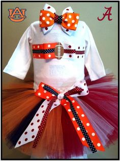 House Divided Football Team tutu set by www.BlissyCouture.com  Two Teams in One!
