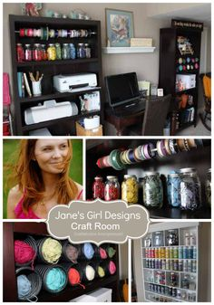 craft room. So colorful and pretty!