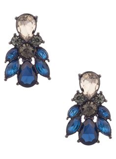 Shop Prima Donna - Sarine Jewel Earrings Navy