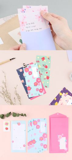 Flower Slim Letter Set