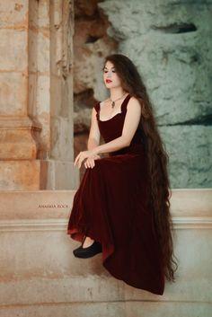 Long hair model Zaryana Milan                              …