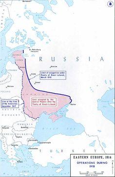 Vrede van Brest-Litowsk: Russische capitulatie eindigde met de vrede van Brest-Litowsk in 1918; later teniet gedaan door de Vrede van Versailles