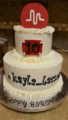 Musical.ly birthday cake