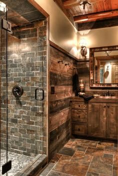 Rustic batroom idea