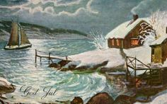 Julekort Chr.Magnus utg Mittet Stemplet 1934