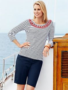 Talbots Renaissance at Colony Park 1000 Highland Colony Parkway Ridgeland, MS 39157 Modest Outfits, Summer Outfits, Cute Outfits, Summer Clothes, Covet Fashion, Fashion 2020, Niki Taylor, Capsule Outfits, Nautical Fashion