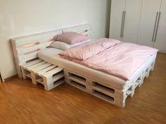 Bett Aus Holzpaletten repurposed wood pallet furniture projects bett sehen und anleitungen