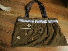Hosenrest wird zu Tasche / Bag made from trousers / Upcycling
