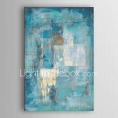 Peint à la main Abstrait Peintures à l'huile,Moderne Un Panneau Toile Peinture à l'huile Hang-peint For Décoration d'intérieur de 2018 ? €60.75