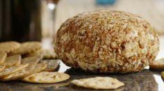 Easy Cheese Ball II Allrecipes.com using cream cheese, ranch dressing mix, shredded cheddar & pecans.