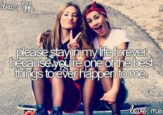 """You are one of the best things to ever happen to me ❤️. you girls are amazing, gorgeous and the only true friends I have .and not just """"BFF's"""" .u truly are both the BEST of any of my friends! Best Friends Sister, Dear Best Friend, Bestest Friend, Best Friends For Life, Best Friend Quotes, Best Friend Goals, Real Friends, Best Friends Forever, Bffs"""