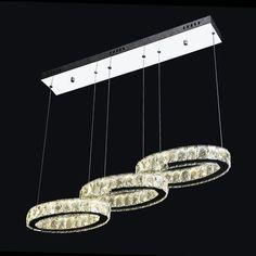 modern araa de cristal suspensin de la luz de entrada de luz led saln villa hotel