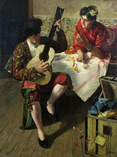 Sala, Emilio (1850-1910) - Torero tocando la guitarra