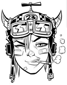 Graffiti Cartoons, Graffiti Art, Character Portraits, Character Art, Tank Girl Comic, Black Panther Drawing, Female Comic Characters, Cyberpunk Girl, Jamie Hewlett
