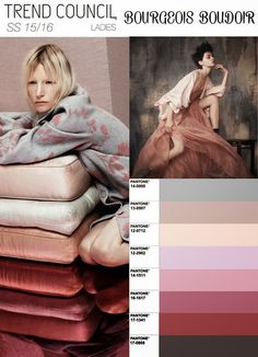 TREND COUNCIL - WOMENS SS2016 - Some softer tones in 2015 and 2016.