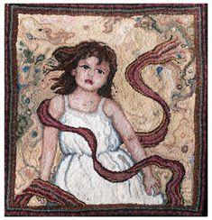 Rachelle LeBlanc.  Textile Artist.  hooked wool www.rachelleleblanc.com